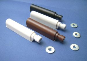 Push to Open Magnetic Catch/Damper Buffer/Sprung WHITE/BLACK BROWN/GREY. Doors/Drawers. 123mm 1-100+